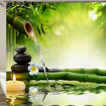 Waterproof Shower Curtain with Hooks Green Scene Bathroom Curtains High Quality Bath Bathing Sheer for Home Decorations Or Mat