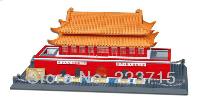 Free Shipping!*The Tian An Men* DIY enlighten block bricks,Compatible With other Assembles Particles free shipping happy farm set 1 diy enlighten block bricks compatible with other assembles particles