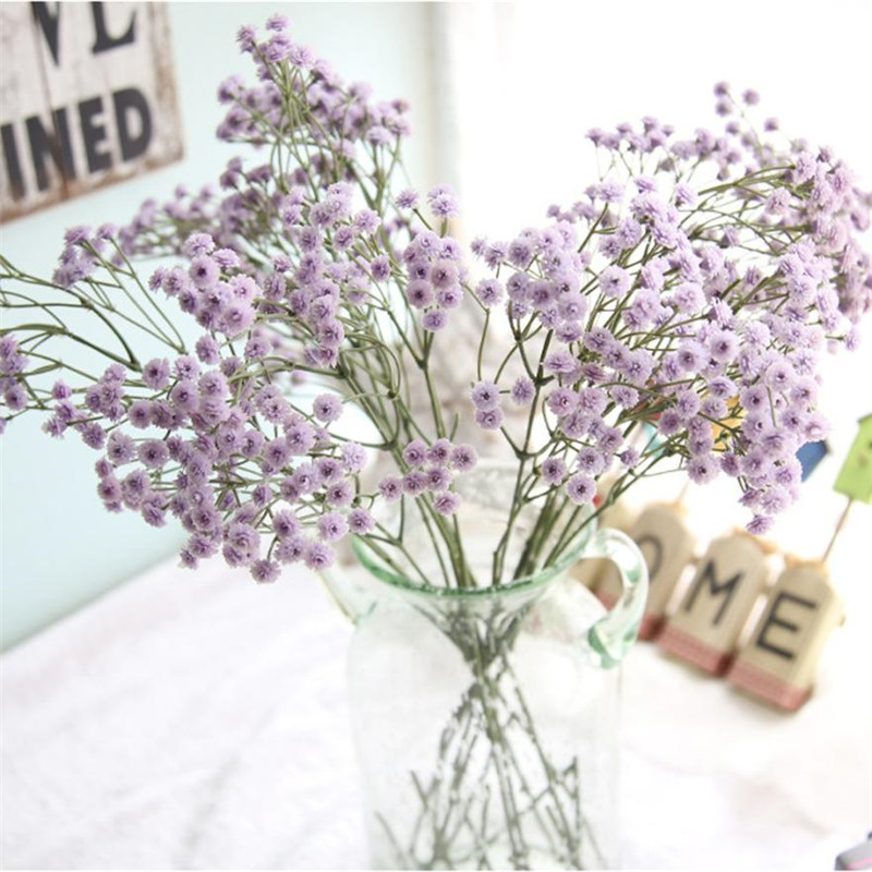 1 Branch Mauve Artificial Silk Fake Flowers Babysbreath Flower Wedding Decoration Home Party Diy
