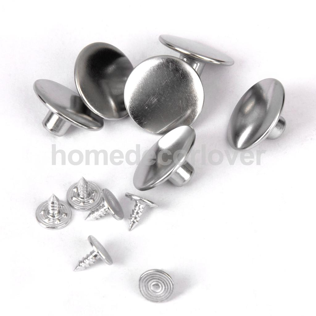 6 Sets Denim Jeans Craft Buttons Stud Hammer DIY Repair Craft Black
