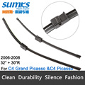 "Wiper blades for Citroen C4 Grand Picasso (2006-2008) 32""+30""R fit side pin type wiper arms only"