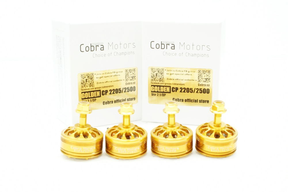 Golden Champion Cobra Motor CP2205-2500Kv,Free Shipping, 4pcs/Set  Brushless Motor for Mini Drone Racing, FPV racing