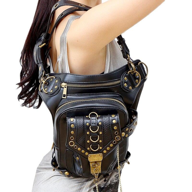 Lady fickor Partihandel Retro Messenger Bag Punk Män Kvinnors - Bälten väskor - Foto 4