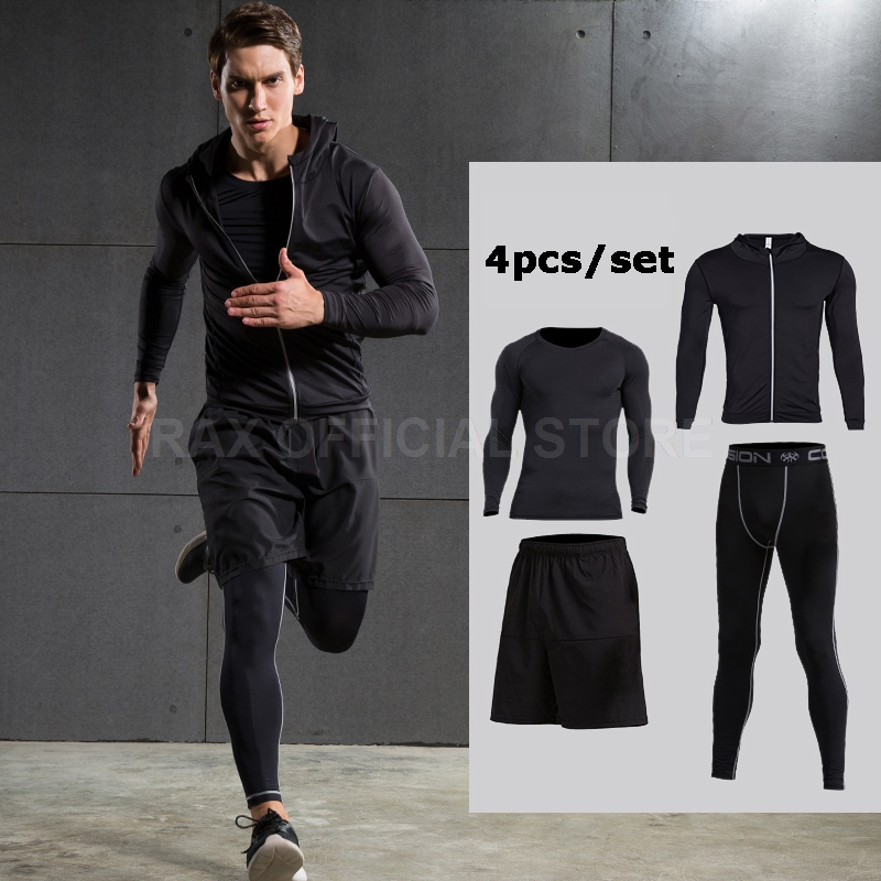 2017 Running Suits Men Sports Suits t 6pcs Homme Gym Men Running Compression Shir Training Running Tracksuits Men Gym Clothing