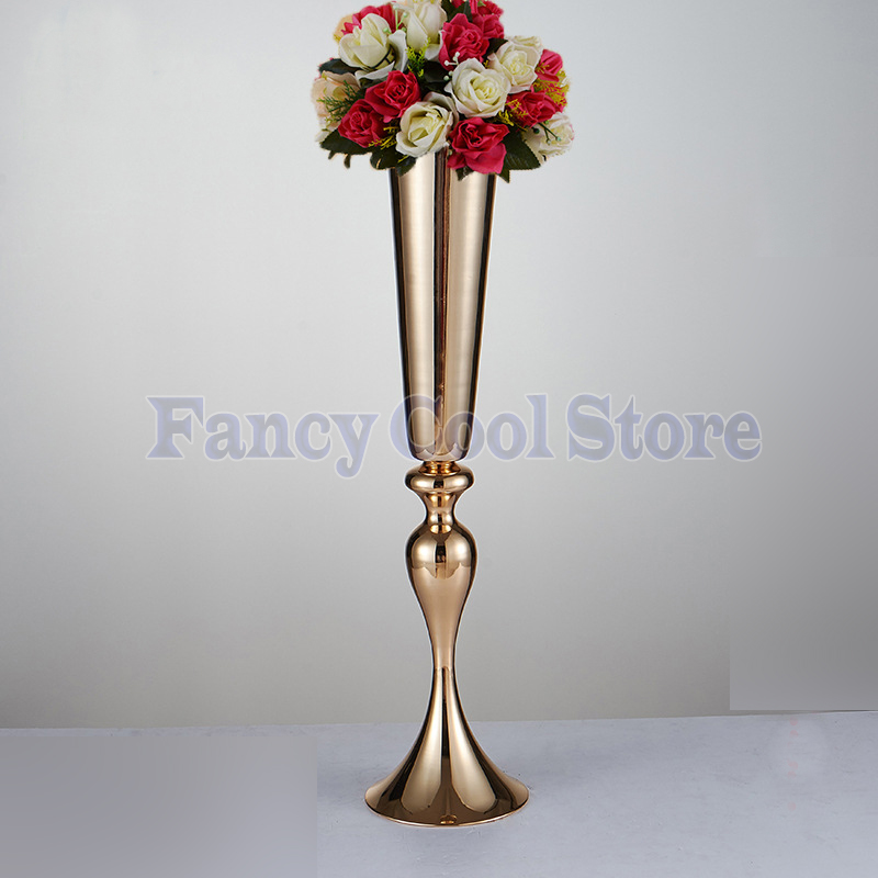 Wedding flower stand gold vase table centerpiece