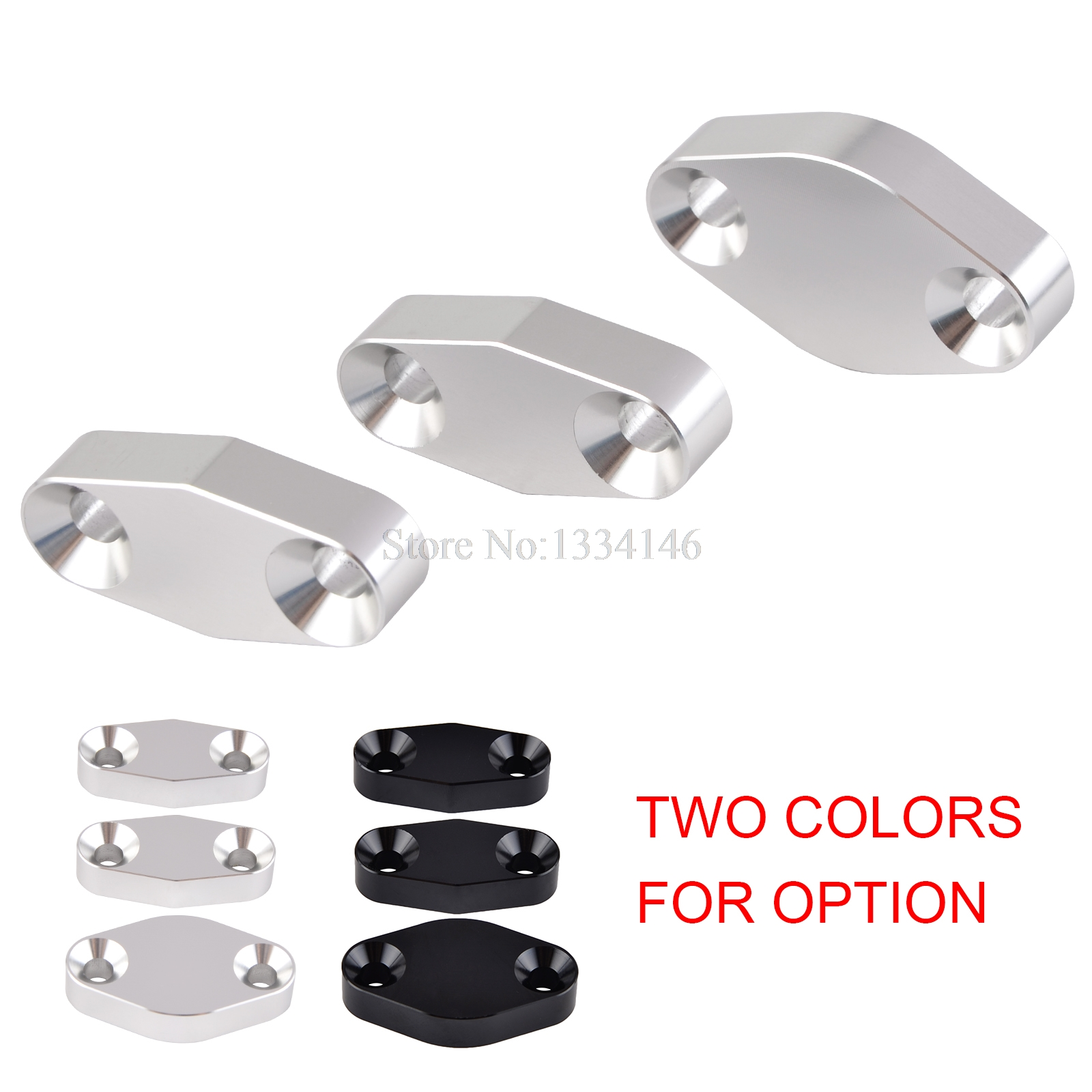 For LSX Camaro LS LS1 LQ4 EGR Valve Blanking Block Plate EGR Smog Air Delete Cover Exhaust Block Off Plate Kit 3Pcs