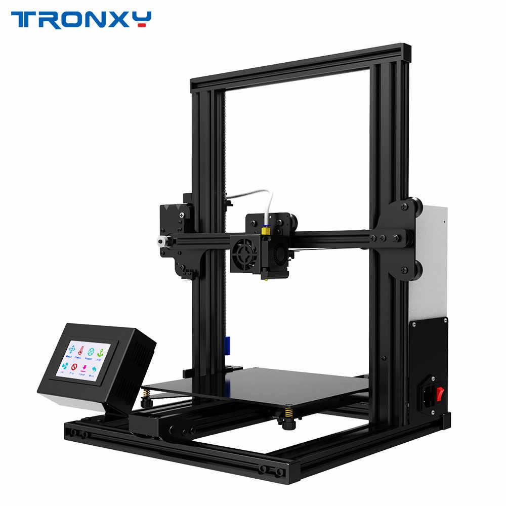 Tronxy yeni XY-2 3D yazıcı büyük baskı boyutu FDM i3 yazıcı v-yuvası dokunmatik ekran devam baskı Hotbed rus federasyonu gemi