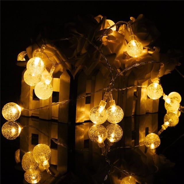 Multicolor impermeable 635 cm Energía Solar 30 LED String Luz de Navidad Festival de Ambiente Led Decoración Del Partido de Hadas de Luz Al Aire Libre
