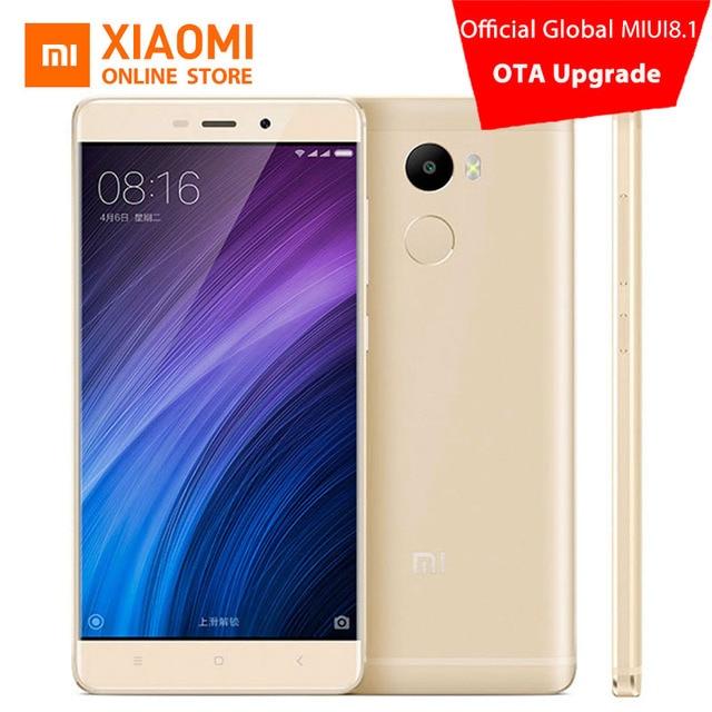 Оригинал Xiaomi Redmi 4 Мобильного Телефона 2 ГБ RAM 16 ГБ ROM Snapdragon 430 Octa Core CPU 5 дюймов 13.0mp Отпечатков Пальцев ID MIUI 8.1