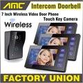 1 Camera 3 Monitor Wireless Video Door Phone Doorbell Intercom with Touch Key Camera IR Rainproof home video intercom system 1V3