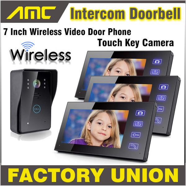 Wireless Video Door Phone Doorbell Intercom With Touch Key