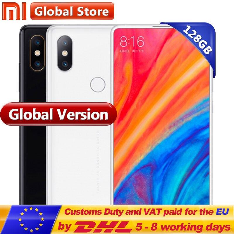 Глобальная версия MIX 2 s 128 ГБ Snapdragon 845 Octa Core мобильного телефона 6 ГБ 3400 мАч 5,99 2160*1080 полноэкранные двойной 12.0MP камеры