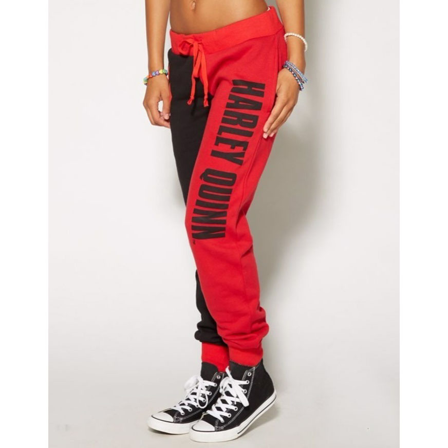 women sweatpants drawstring letter printed patchwork female pants running jogging leisure fitness gym workout pants trousers in Running Pants from Sports Entertainment