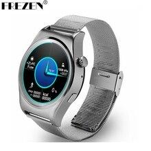 FREZEN X10 Inteligente Reloj Smartwatch MTK2502C Redondos Completos Deportes de Metal con Monitor de Ritmo Cardíaco Para Ios Android PK KW18 LF07 K88H
