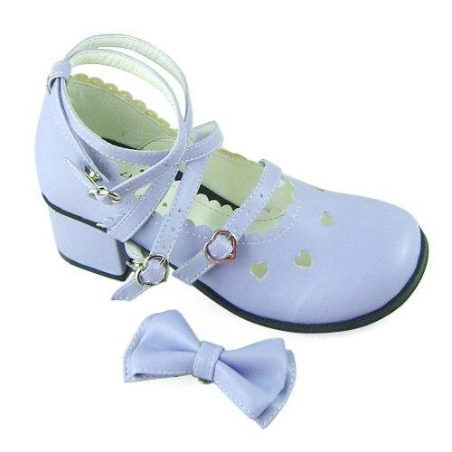 ФОТО Princess sweet lolita shoesLolilloliyoyo antaina lolita cos punk bow medium hells shoes 2022 - 1  custom for 3-5days PU shoes