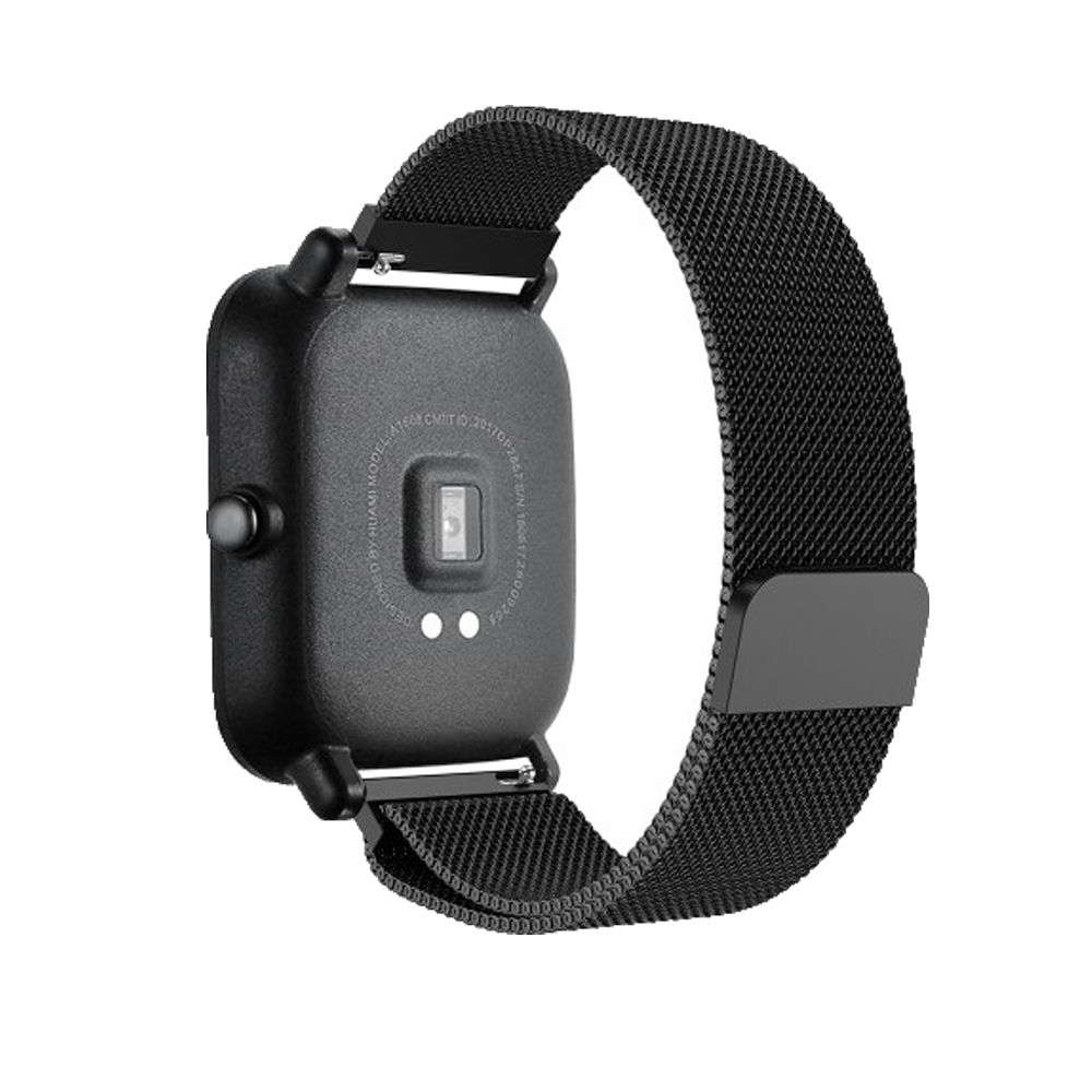 7in1 Smartwatch Accessories For Huami Amazfit Bip Strap Stainless Steel Bracelet Magnet For Amazfit Bip Case Protector Film