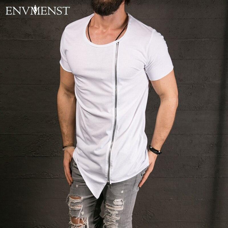 2017 new men 39 s fashion show stylish long t shirt for New fashion t shirt man