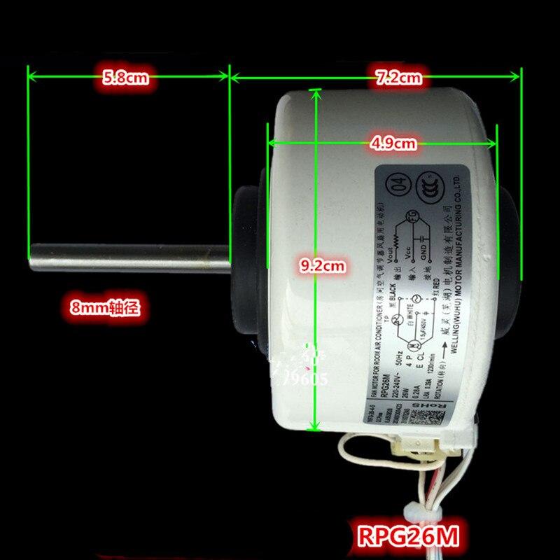 1 stks gloednieuwe originele airconditioning motor DC motor RPG26M RPG28D fan motor Airconditioner Onderdelen-in Air conditioner onderdelen van Huishoudelijk Apparatuur op  Groep 1