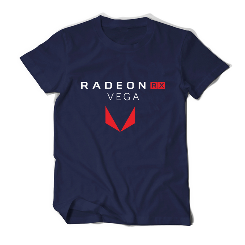 PC graph process Gamer AMD Radeon RX Vega T shirt Geek Men tees cotton casual camiseta ryzen brand clothing male casual t shirts
