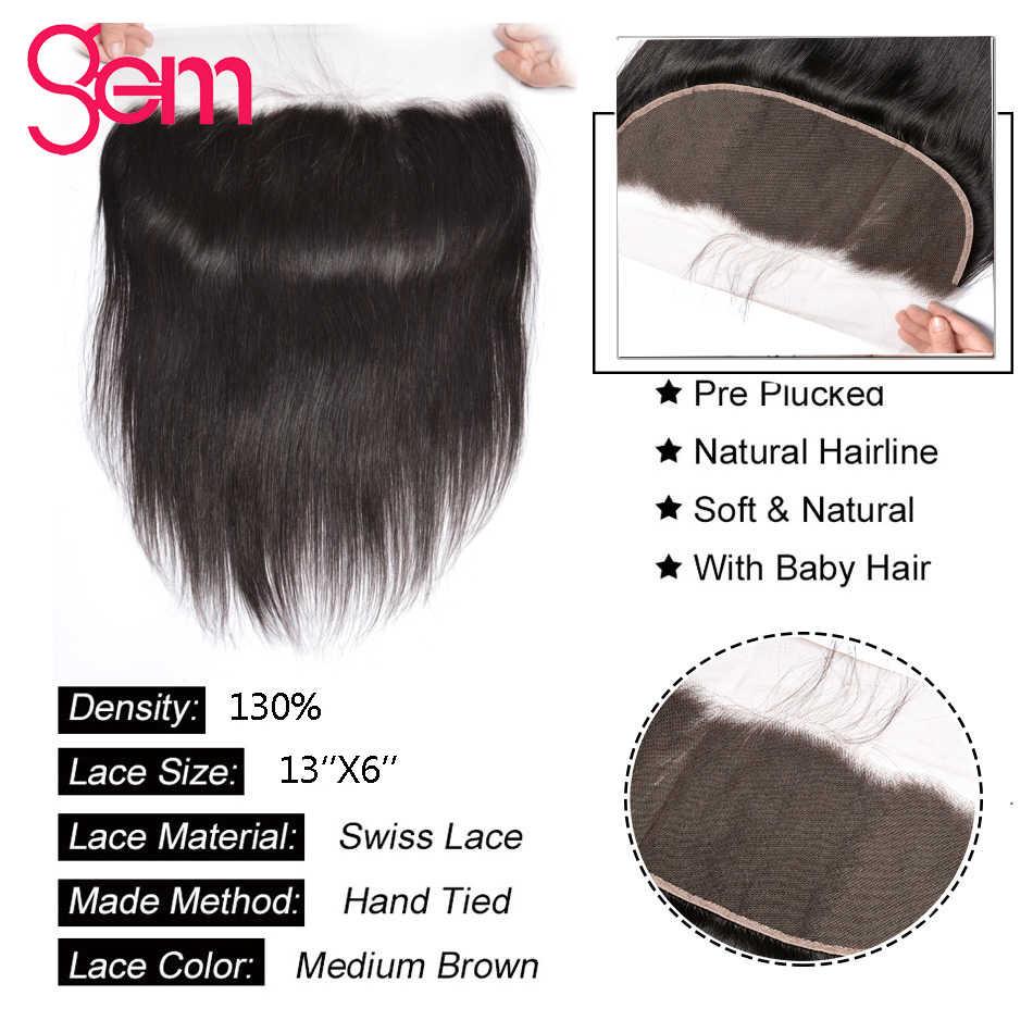 Перуанские прямые пучки волос с 13x6 фронтальные 100% человеческие волосы 3 пучка с кружевной фронтальной застежкой драгоценные не завитые здоровые волосы