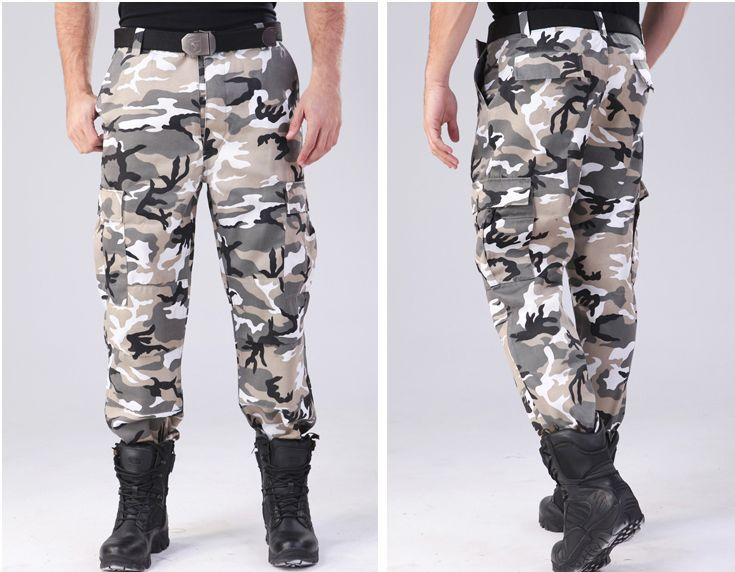 men urban camo u.s. army training pants military outdoor field combat trousers mountain camp walking gear equipment - Anna's holiday store