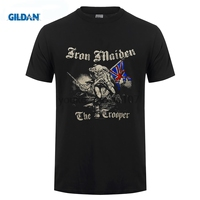 GILDAN New Iron Maiden Sketched Trooper T Shirt Brave New Rld Fear Of The Dark Printed