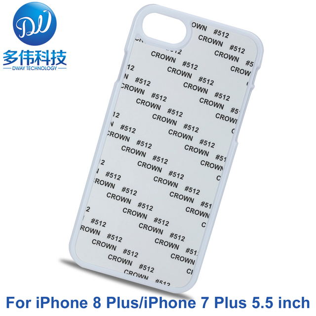 reputable site 6974d 3a35d US $29.9 |For Apple iPhone 8 Plus Cover 2D PC Plastic Hard DIY Sublimation  Printed Blank Phone Case For iPhone 7 Plus Coque Fundas 20PCS-in ...