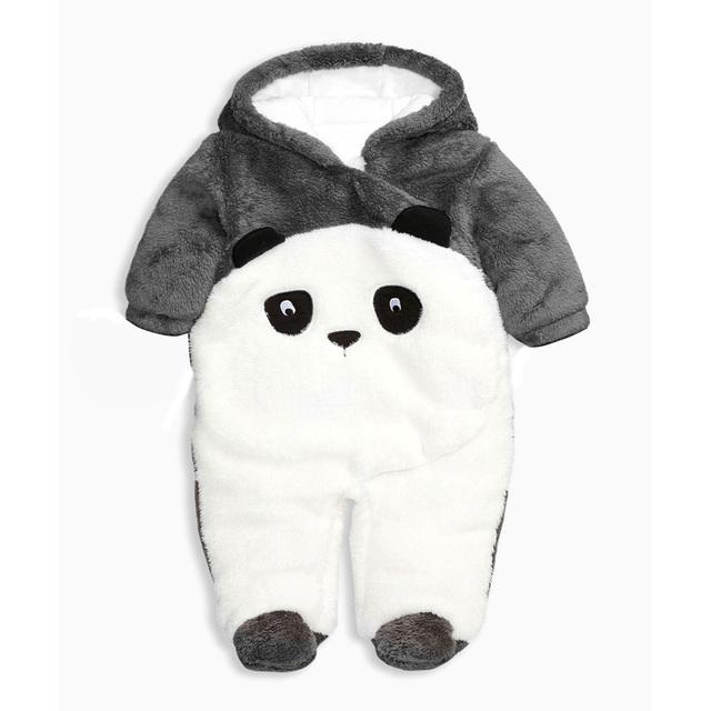 Kung Fu Panda ropa de bebé Uno Junta Las Piezas Mamelucos Del Muchacho recién nacido de la Historieta Animal Del Mono de Invierno Ropa Infantil de Dibujos Animados Bebé Mameluco YL29