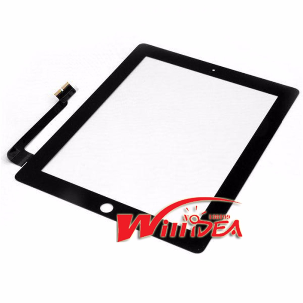 NEW Black Touch Screen For iPad 3 4 iPad3 iPad4 Touch Digitizer Screen Glass Replacement Screen Touchscreen free shipping