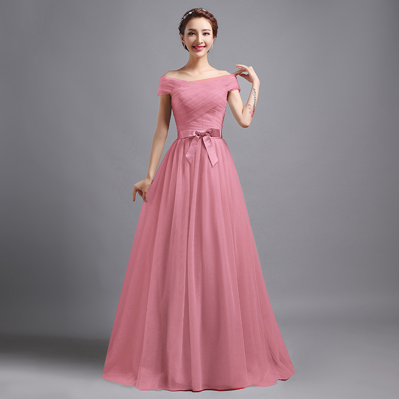 Simple Belt Evening Dresses Long Party Dress Elegant Formal Evening ...