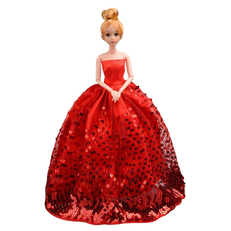 Saleaman precioso vestido de novia hecho a medida para la muñeca - Muñecas y accesorios - foto 3