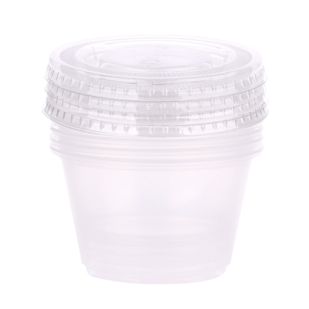 5X 110ml Storage Container Organizer Box For Light Clay Playdough Foam Slime Mud