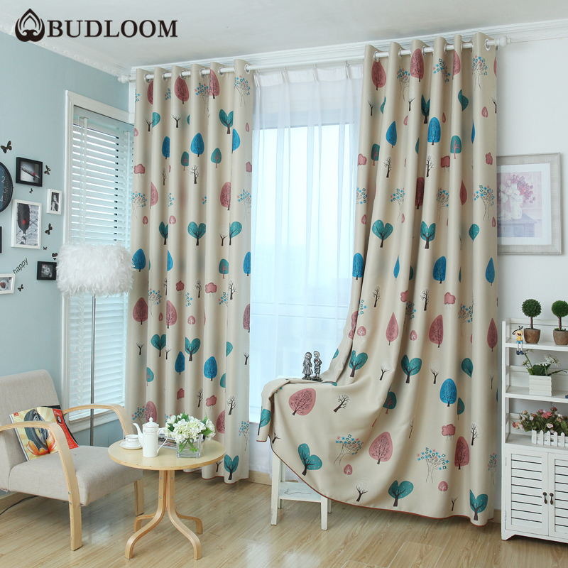 Budloom Cartoon Tree Blackout Curtains For Bedroom Curtains For Kids