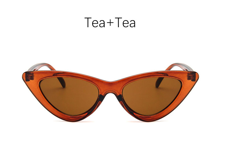 cat eye shade for women fashion sunglasses brand woman vintage retro triangular cateye glasses oculos feminino sunglasses Sexy 10