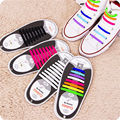 12x Silicone Elastic Shoelaces Easy No Tie Laces Shoe Sneakers Trainer Kids AU