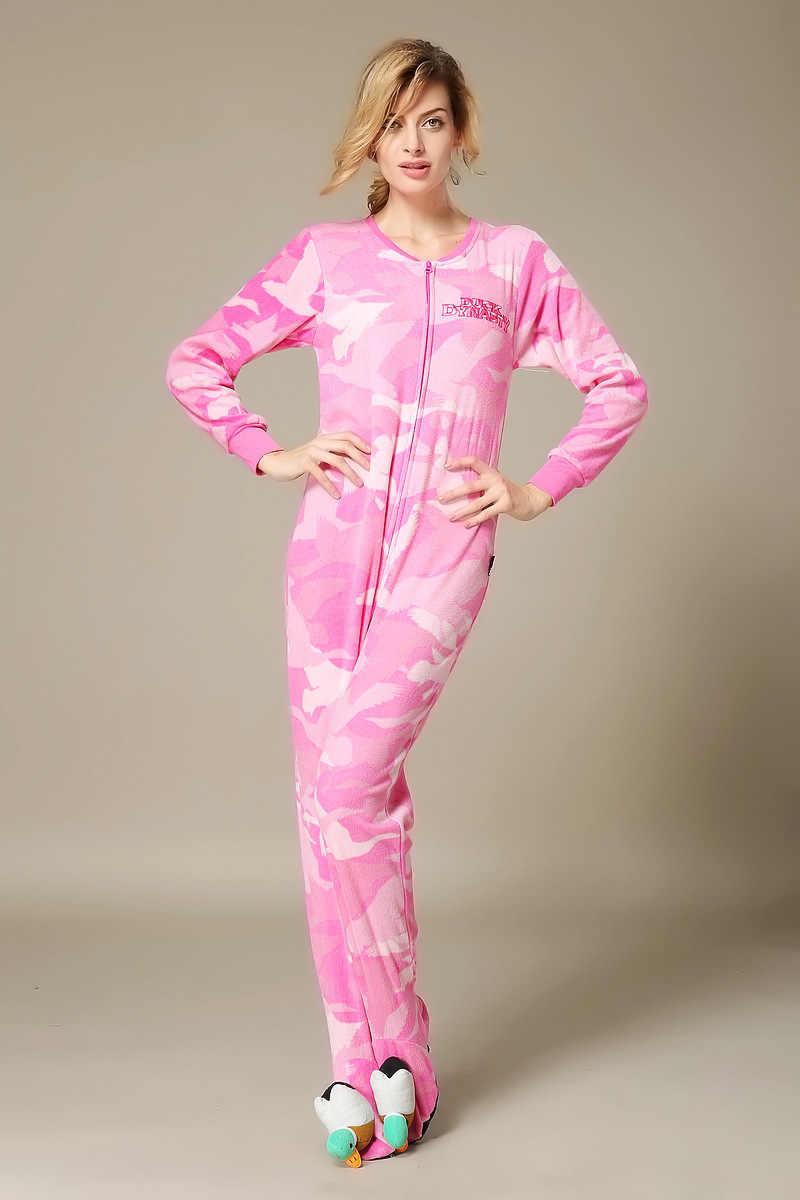 ee47faf0d6 2019 Adult woman All in One Fleece footed Pijama Cartoon Cosplay Warm Hood Onesies  Sleepwear girls