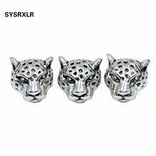 Free Shipping Wholesale 10 Pcs Lot Metal Silvery Alloy Beads Leopard Head Spacers Beads Charms DIY For Jewelry Making Bracelet