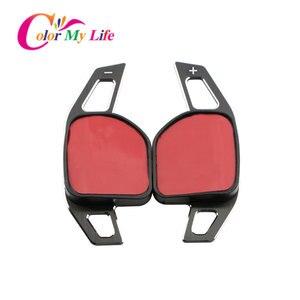 Image 2 - Kleur Mijn Leven Auto Stuurwiel Dsg Paddle Uitbreiding Shifter Shift Sticker Voor Seat Alhambra /Ateca /Leon Fr/Leon /Leon 4 5F