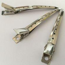 10 stücke 9cm 8 löcher Silber carbon stahl Ente clip Haar salone Schnitte Clamp