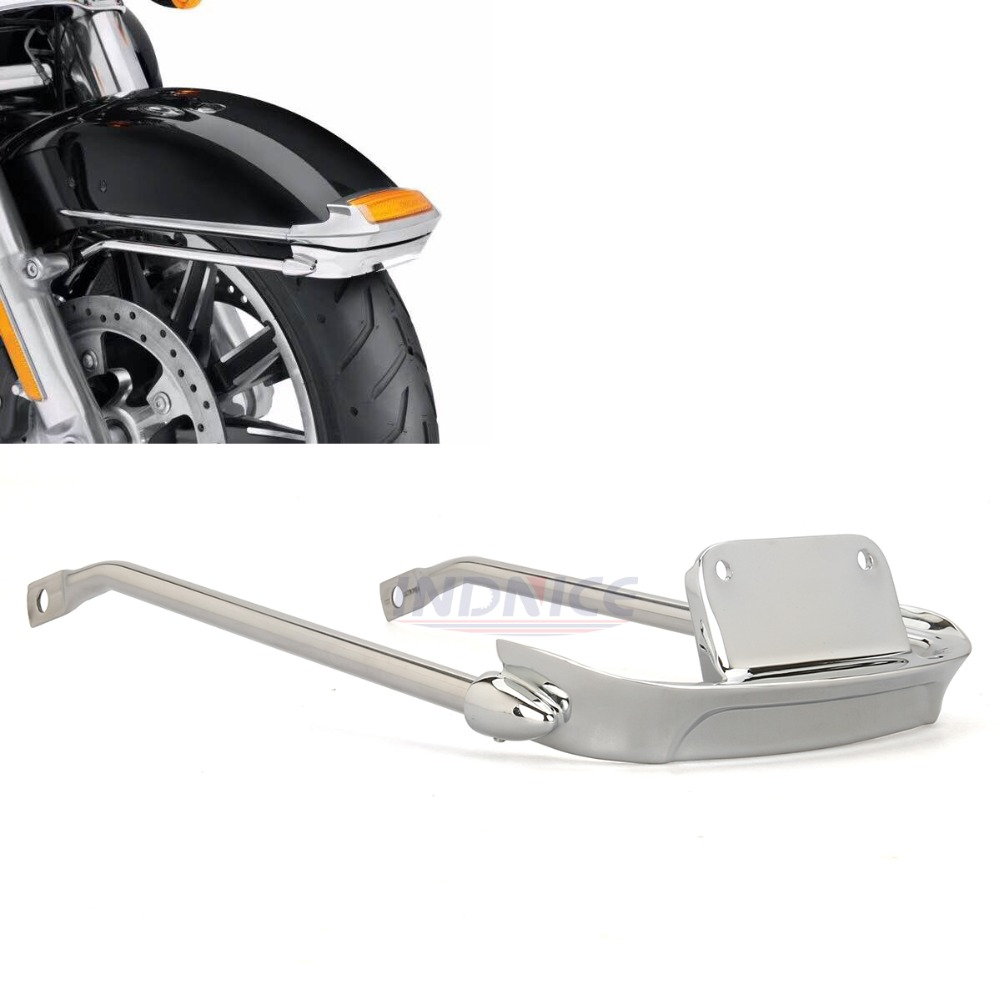 Chrome Air Wing Front Fender Rail for harley Electra Glide Ultra Classic FLHTCU fender rail bracket FLHTK fender trim 14-18 двуспальный евро комплект белья василиса 4200 1 герберы 2е