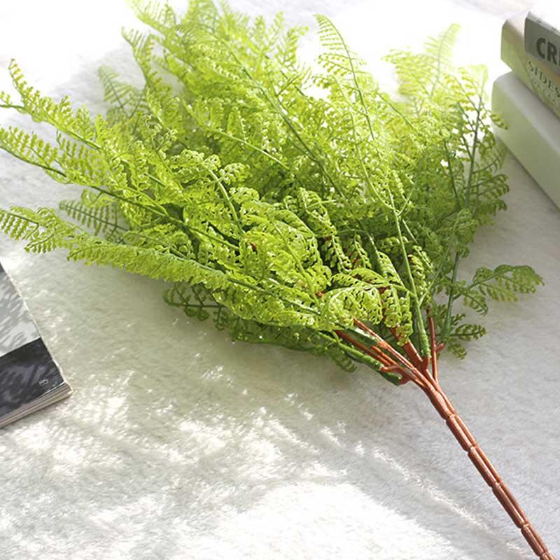 46cm 인공 식물 품질 가짜 펀 잎 홈 플라스틱 가을 장식 2PCS에 대 한 저렴 한 플라스틱 잔디 진짜 터치 가짜 식물