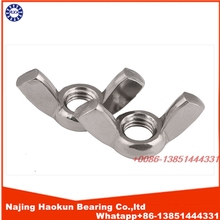 NEW ARRIVAL 10pcs M3 M4 M5 M6 M8 M10 DIN315 Galvanized hand tighten nut butterfly nut ingot wing nuts AXK30