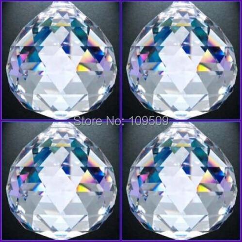 20 мм 30 мм Crystal Clear Ab Шар Prism Suncatcher Хрустальная Люстра Мяч Части для Свадебных и Фэншуй X-MAS Украшения