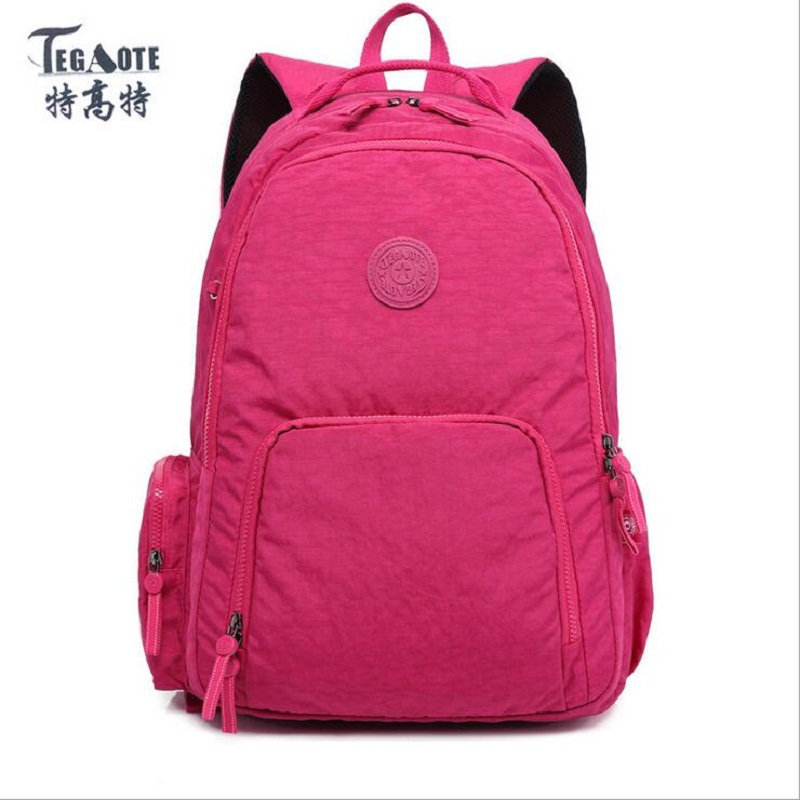 TEGAOTE Women Backpack Girls Nylon Backpacks preppy style backpack Mochila Feminina Female Travel Bagpack Schoolbag waterproof 2016 fashion women backpack genuine leather female college wind schoolbag for girls women preppy style ladies travel backpacks