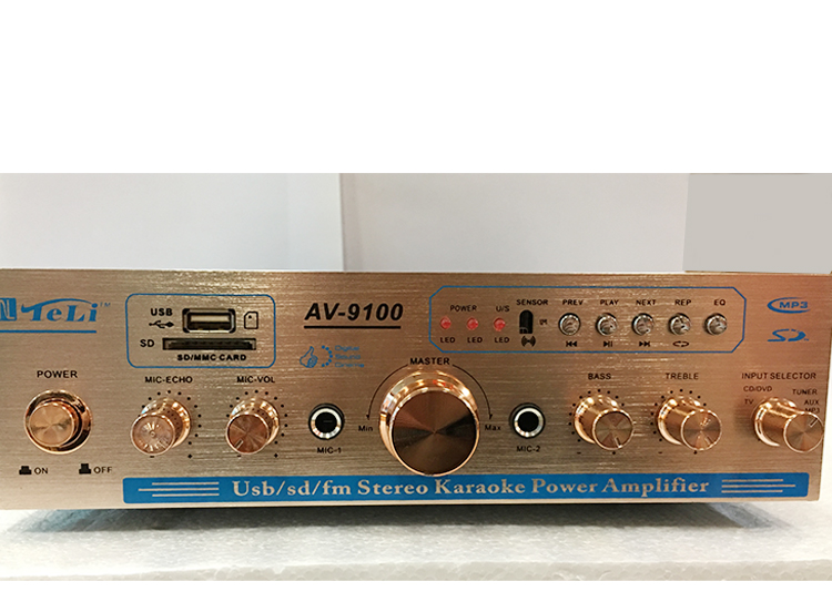AV-9100 300w+300W 220V 5 channel USB SD FM radio stereo Karaoke Home theater audio power amplifier