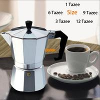 Moka Espresso Coffee Maker Machine Glantop Aluminum 1cup 3cup 6cup 9cup 12cup Italian Stove Top Percolator