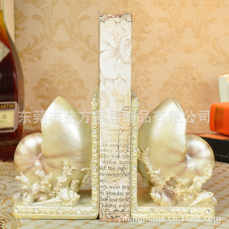 Creative bookends wholesale conch book study by the model room Decoration wholesale decorationCreative bookends wholesale conch book study by the model room Decoration wholesale decoration
