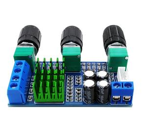 Image 2 - DC 12V 24V 80W x 2 Dual channel Digital Audio TPA3116D2 Treble Bass Regulating Preset Pre amplifier Board