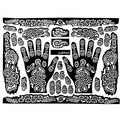 2016 New Tattoo Templates Hands/Feet Henna Tattoo Stencils for Airbrushing Mehndi Body Painting Random Pattern