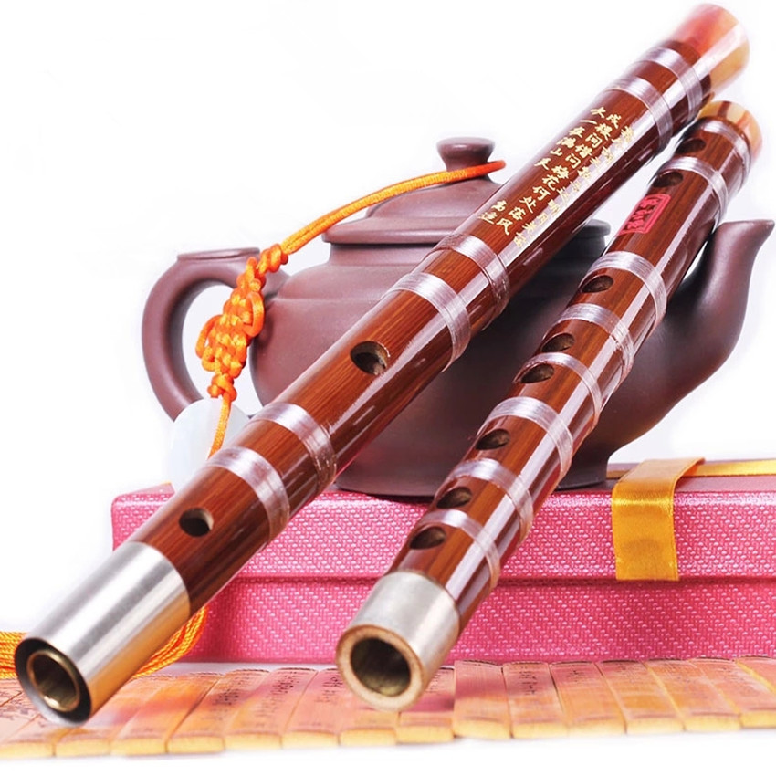 Chinese bamboo flute musical instrument CDEFG Key Transverse dizi Professional flauta binodal double plug fluta